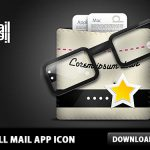 Small Mail App Icon PSD