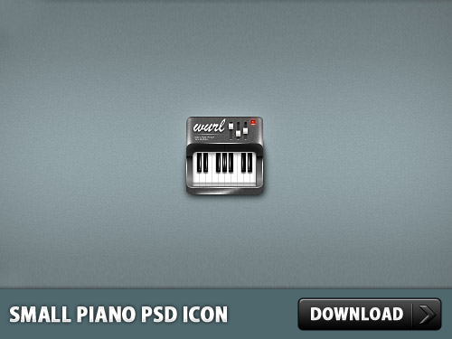 Small Piano PSD Icon L