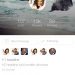 Social App Mobile UI Kickstarter Kit PSD