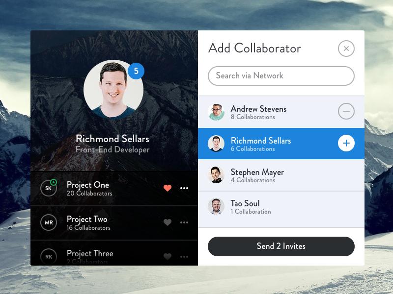 Social User Profile UI Design Free PSD