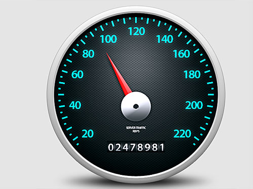 Speedometer Icon Photoshop L
