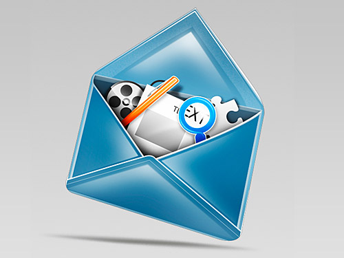 Stylish Mail Icon L
