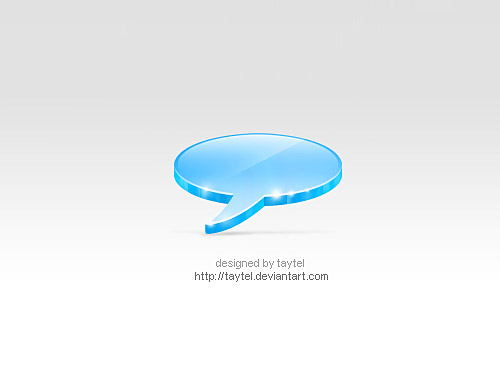 Talk Icon PSD L