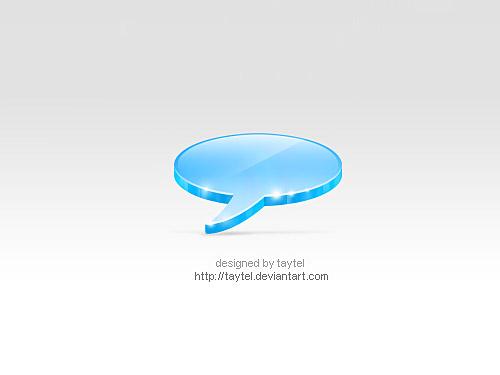 Talk Icon PSD L
