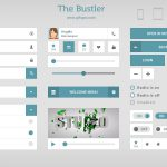 The Bustler UI Kit Free PSD