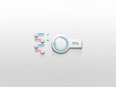 Toggle Switch And Loader UI Free PSD