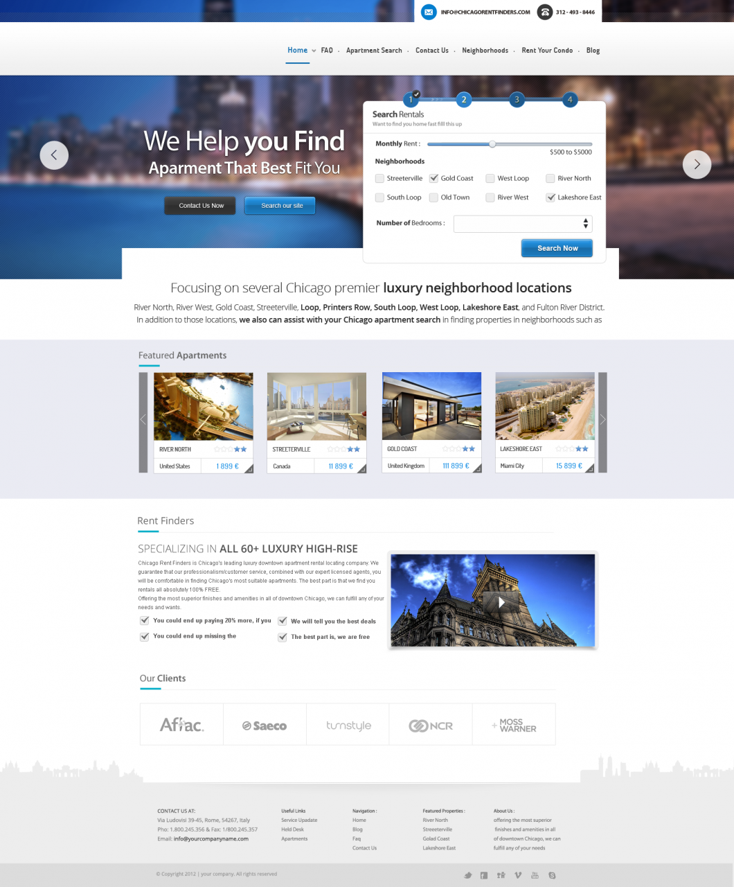 Travel Booking Website Design Template PSD