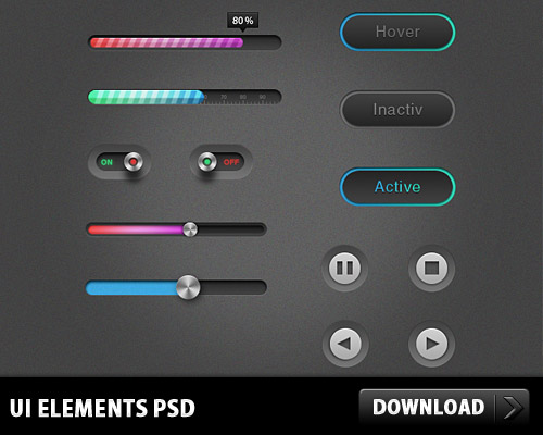UI Elements PSD L