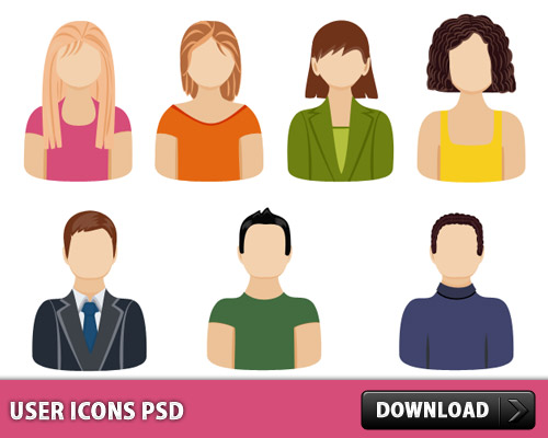 User Icons PSD L