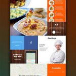 Vibrant Food Magazine Website Template Free PSD