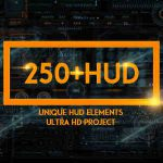 [Get] VideoHive 250 HUD SCI-FI Backgrounds Technology 17654859