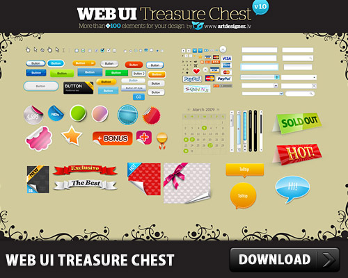 WEB UI Treasure Chest L