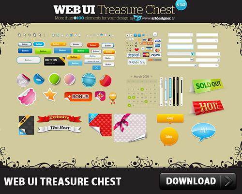 WEB UI Treasure Chest L