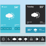 Weather Widget UI PSD freebie
