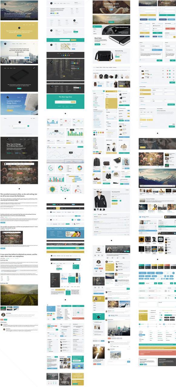 Web User Interface UI Kit Free PSD