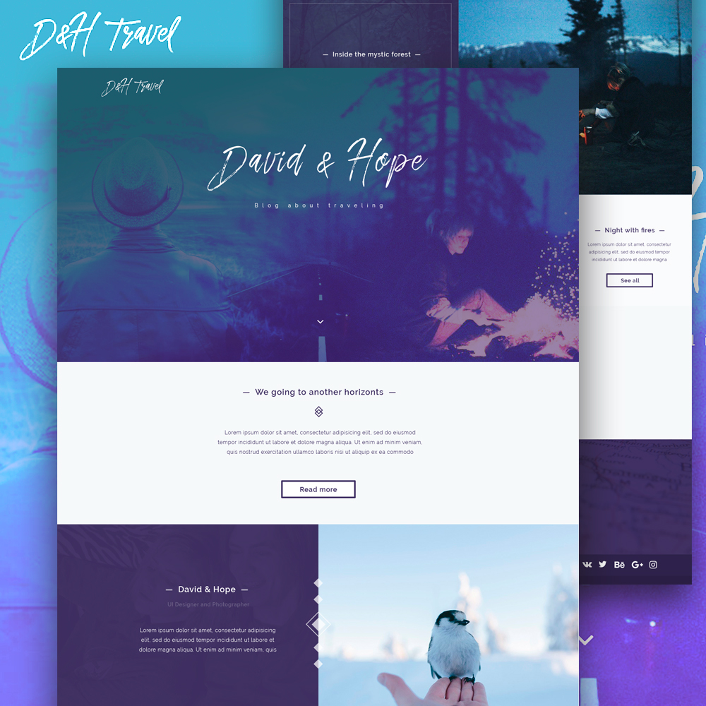 Website Template PSD For Photographer