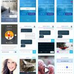 Winter App User Interface Kit Free PSD