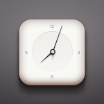 Simple Clock Icon PSD