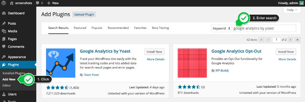 how to add ggogle analytics to wordpress with yoast