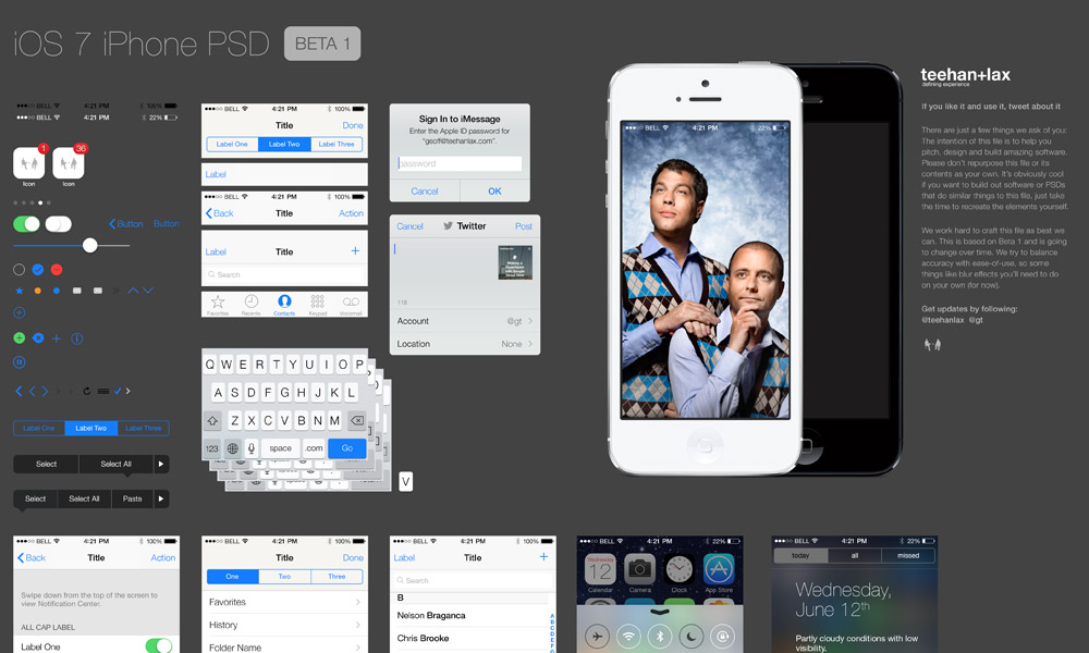 IOS7 IPhone GUI PSD