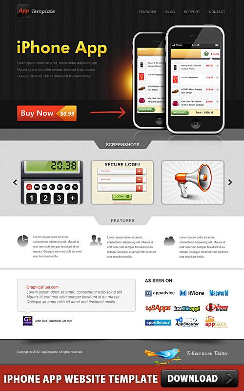 IPhone App Website Template L
