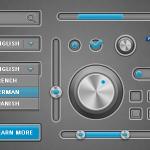 Simple Gray UI PSD File