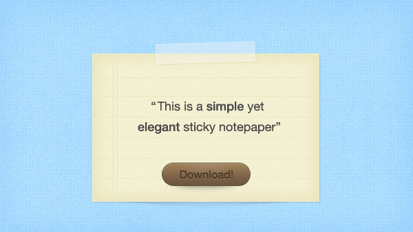 Sticky Notepaper Free PSD