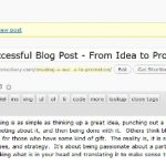 Creating a Successful Blog Post – From Idea to Promotion