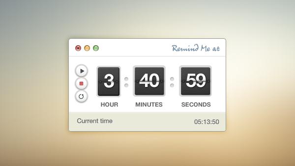 Timer Stopwatch Free PSD Interface
