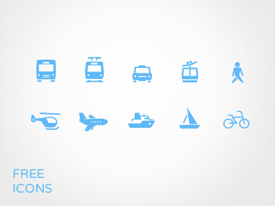 Transportation Icon Set Free PSD