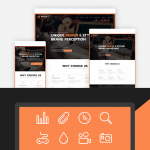 Brand Agency – One Page WordPress Theme for Agency / Business by multidots Menu Cart