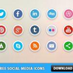 15 Free Social Media Icons PSD