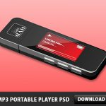3D MP3 Portable Player Free PSD