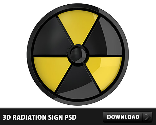3D Radiation Sign PSD L