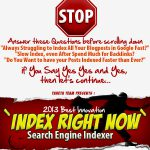 [GET] Index Right Now – AMAZINGLY Index Your BlogPosts FASTER than Ever!