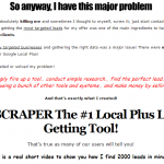 [GET] GPScraper – #1 Google Local Plus Lead Getting Tool!