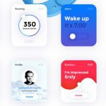 Apple Watch Modern UI Kit Free PSD