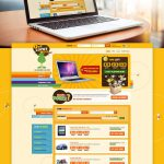 Auction Website Template Free PSD