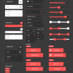 Awesome Flat UI Kit Freebie PSD