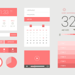 Beautiful Flat UI Element Kit Free PSD