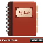 Book icon Free PSD