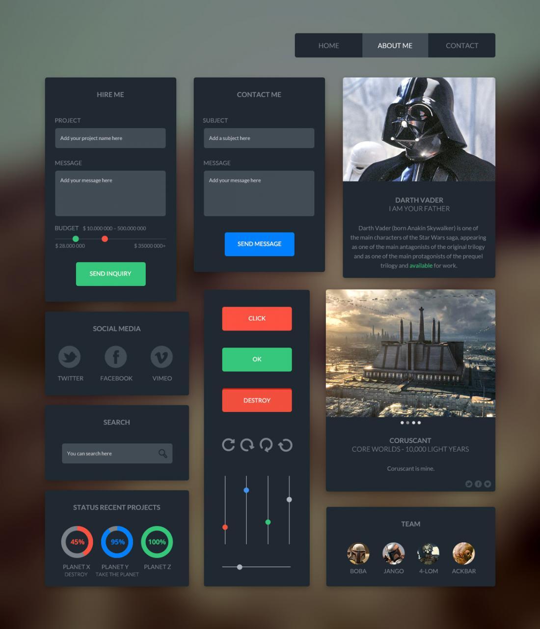 Brave UI Kit Free PSD
