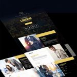 Business Event Invitation Website Template PSD