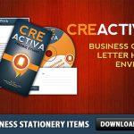 Business Stationery items Free PSD set