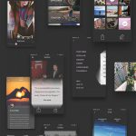 Card Style iPhone 6 iOS App UI Kit PSD