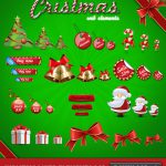 Download Christmas Web Elements PSD