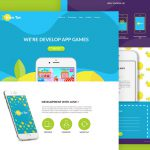 Colorful App website Template Free PSD