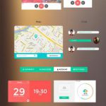 Flat Colourful Smooth Free UI Kit PSD