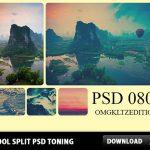Cool Split Toning PSD