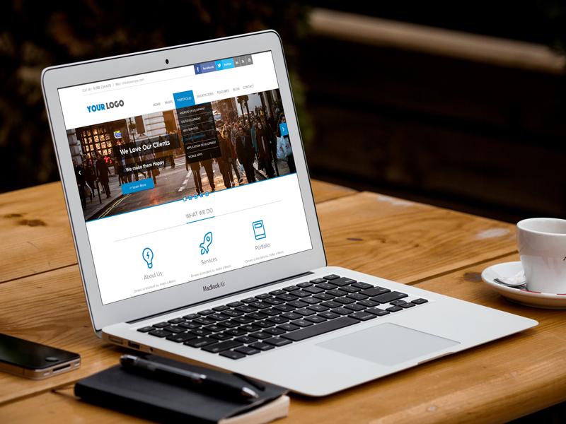 Corporate Website Responsive Landing Page PSD